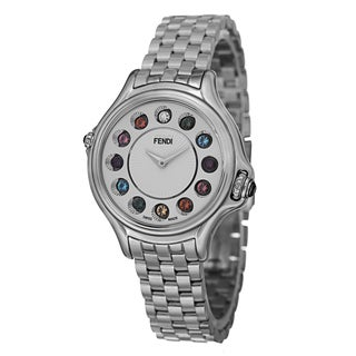 Fendi Women's F107024000T05 'CrazyCarats' Silver Dial Stainless Steel Bracelet Quartz Watch