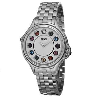 Fendi Women's F107034000T05 'CrazyCarats' Silver Dial Stainless Steel Bracelet Quartz Watch
