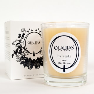 Qualitas USP Pharmaceutical White Beeswax Fir Needle Holiday Candle