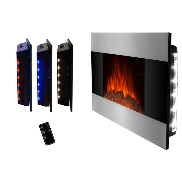 Golden Vantage 36 Inch Wall Mount Indoor Heater Electric Fireplace Free Shipping