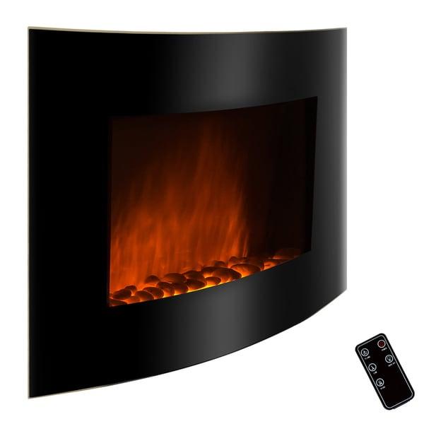 Golden Vantage 36-inch Black Free Wall Mount Indoor Heater Electric Fireplace