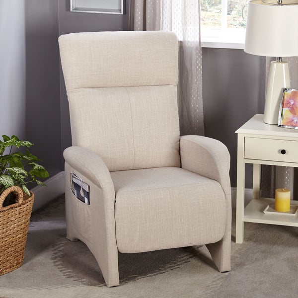 Simple Living Addin Beige Small Reclining Accent Chair
