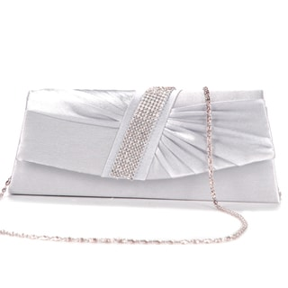 Anladia Women's Satin Pleated Wedding Clutch