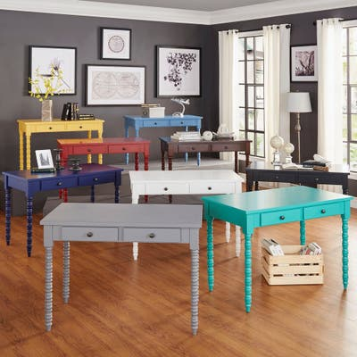 Lyndale 2-Drawer Helix Legs Office Desk by iNSPIRE Q Bold