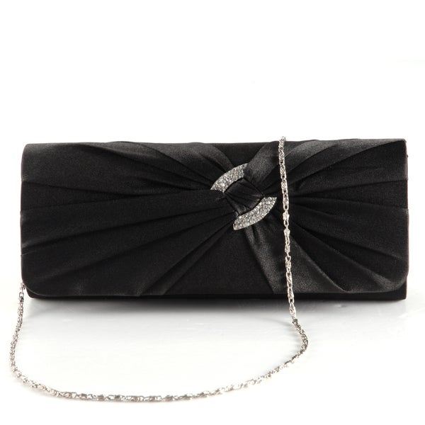 Anladia Womenu0026#39;s Satin Diamante Pleated Evening Clutch - Free Shipping On Orders Over $45 ...