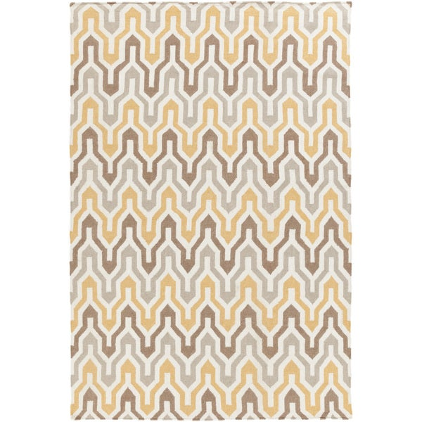 Hand-Woven Dennis Reversible Wool Area Rug (3'6 x 5'6)