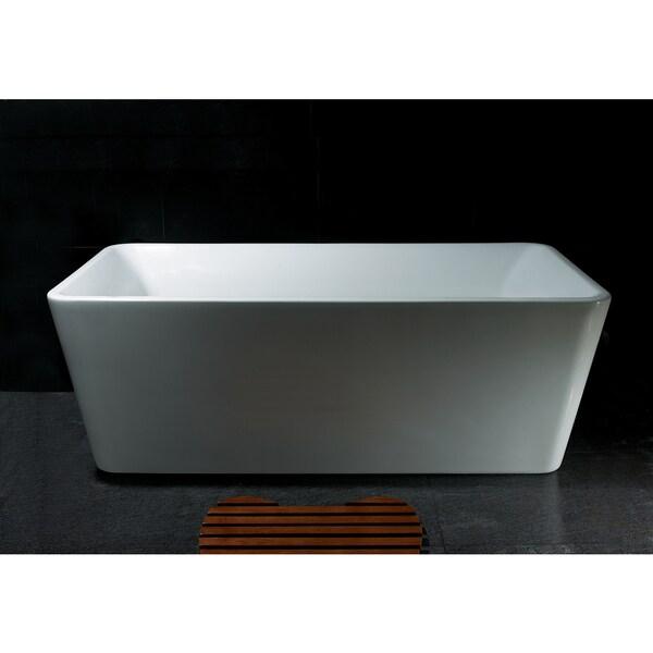 Shop akdy bt0024 67 inch rectangular europe style white for European bathtubs