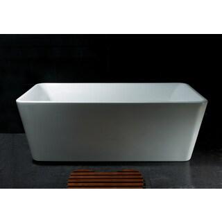 AKDY BT0024 67-inch Rectangular Europe Style White Acrylic Free-standing Bathtub