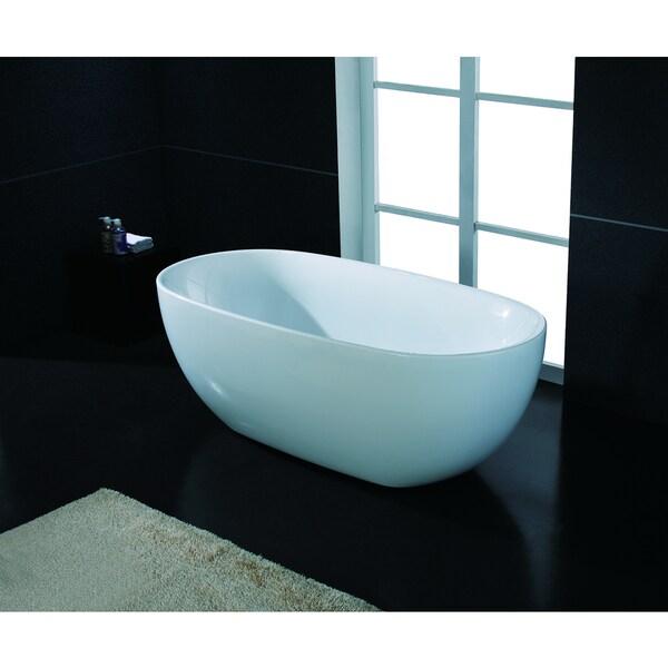Akdy 67 inch osf277 ak oval europe style white acrylic for European bathtubs