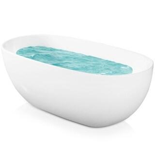 AKDY 67-inch Oval Europe Style White Acrylic Free Standing Bathtub