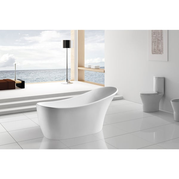 Akdy 63 inch osf278 ak europe style white acrylic free for European bathtub