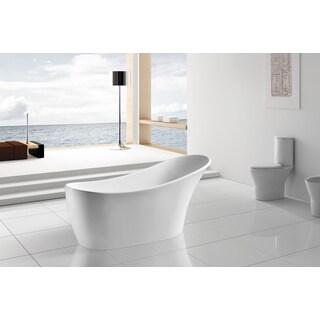AKDY 63-inch OSF278-AK Europe Style White Acrylic Free Standing Bathtub