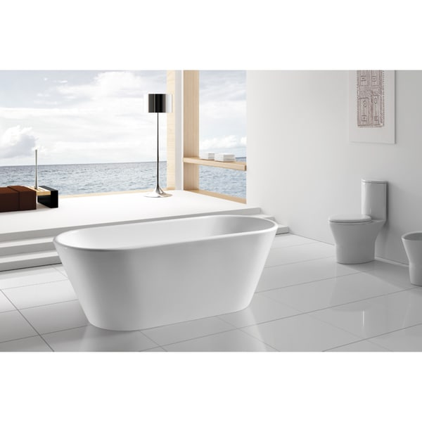 Akdy 67 inch osf294 ak oval europe style white free for European bathtub
