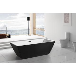AKDY 70-inch OSF273-AK Europe Style White Acrylic Free Standing Bathtub