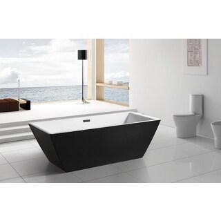 AKDY 70-inch BT0074 Europe Style White Acrylic Free Standing Bathtub