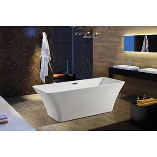 AKDY 67-inch OSF295-AK Europe Style White Acrylic Free Standing Bathtub
