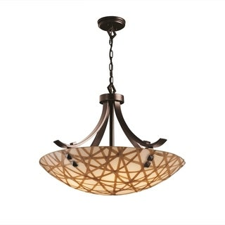 Justice Design Group 3Form Flat Bars with Finials 6-light Pendant