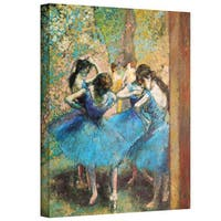 """ArtWall Edgar Degas """"Dancers in Blue"""" Gallery-wrapped Canvas"""