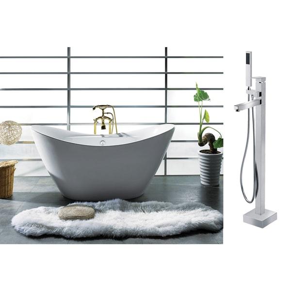Akdy 67 inch osf210 8733 ak europe style white acrylic for European steel enamel bathtub