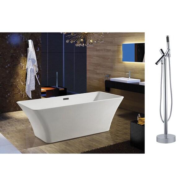 Akdy 67 inchosf295 8711 ak europe style white acrylic free for European steel enamel bathtub