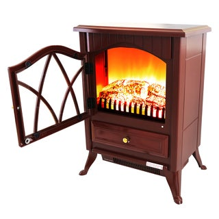 AKDY 16-inch FP0005 Red Free Standing Electric Fireplace Indoor Heater