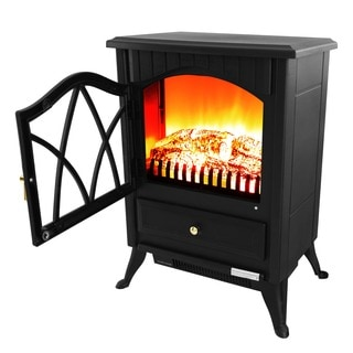 AKDY 16-inch AK-OS18D2P-BK Free Standing Electric Fireplace Indoor Heater