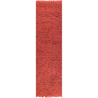 M.A.Trading Hand-woven Berber Red New Zealand Wool Rug (2'8 x 7'10)