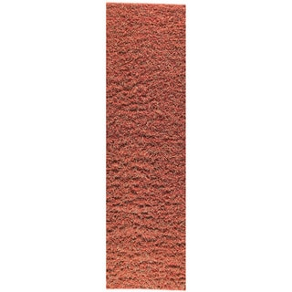 M.A.Trading Hand-knotted Tokyo Red/ Orange New Zealand Wool Rug (2'8 x 7'10)