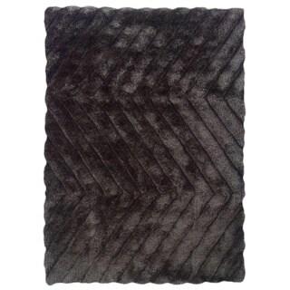 Linon Links Shag Charcoal Area Rug (1'10 x 2'10)