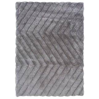 Linon Links Shag Grey Area Rug (1'10 x 2'10)