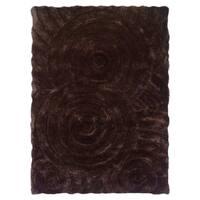 Linon Links Shag Chocolate Area Rug - 8' x 10'