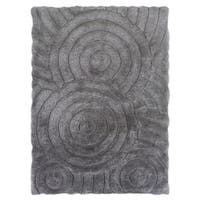 Linon Links Shag Grey Area Rug (8' x 10')