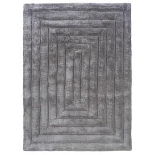 Linon Links Shag Grey Area Rug (8' x 10')