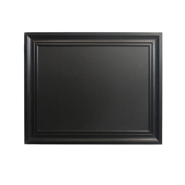 shop linon chalkboard with black frame 24 inches x 30 inches free shipping on orders over. Black Bedroom Furniture Sets. Home Design Ideas