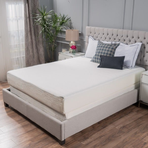choice 10inch kingsize memory foam mattress by christopher knight home