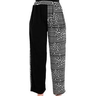 Firmiana Women's Black/ White Long Palazzo Pants