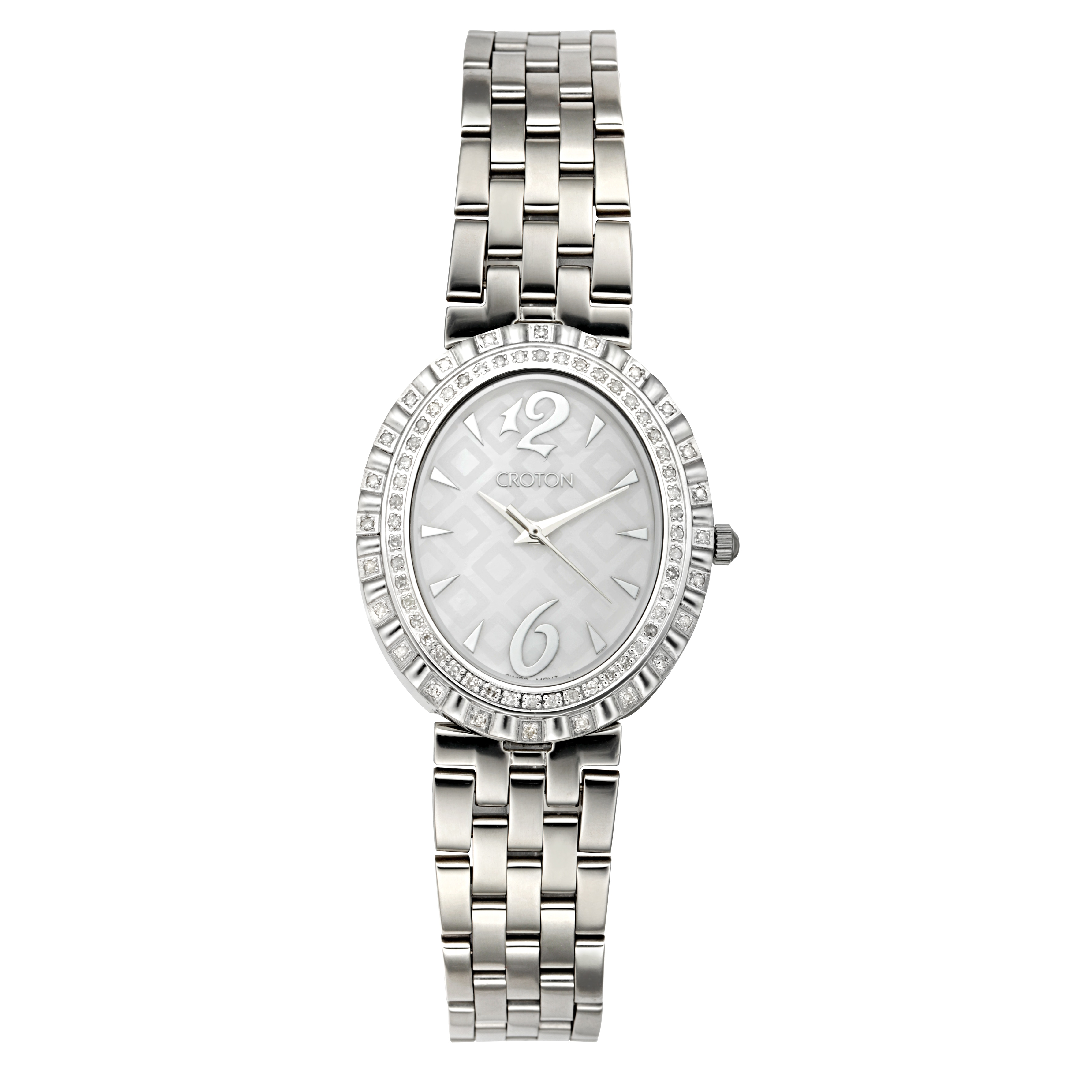 Croton Women's CN207507SSMP Stainless Steel Silvertone Di...