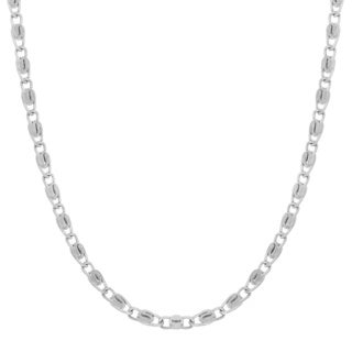 Sterling Essentials Sterling Silver Snail Chain Necklace