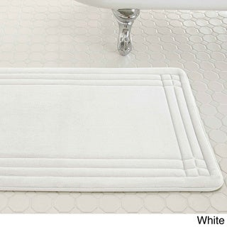 Embossed Memory Foam Geoplex 21-inch by 34-inch Bath Mat