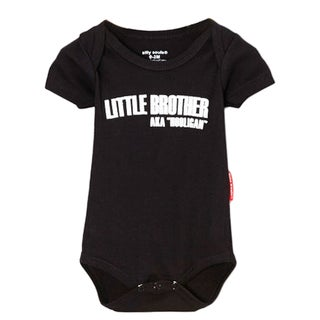 Boys' 'Lil Brother Hooligan' Black Bodysuit