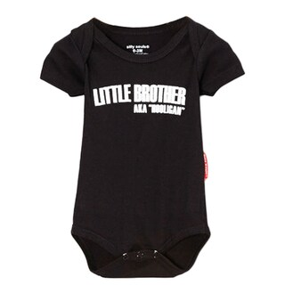 Boys' 'Lil Brother Hooligan' Black Bodysuit