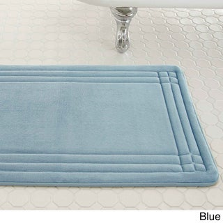 Amrapur Overseas Embossed Memory Foam Geoplex Bath Mat (Option: 21 x 34 - Blue)