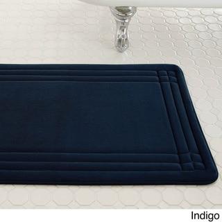 Embossed Memory Foam Geoplex 17-inch by 24-inch Bath Mat