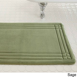 Embossed Memory Foam Geoplex 17 inch by 24 inch Bath Mat. Green Bath Rugs  amp  Bath Mats   Shop The Best Deals For Apr 2017