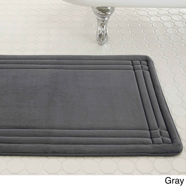 Embossed Memory Foam Geoplex 17 Inch By 24 Inch Bath Mat
