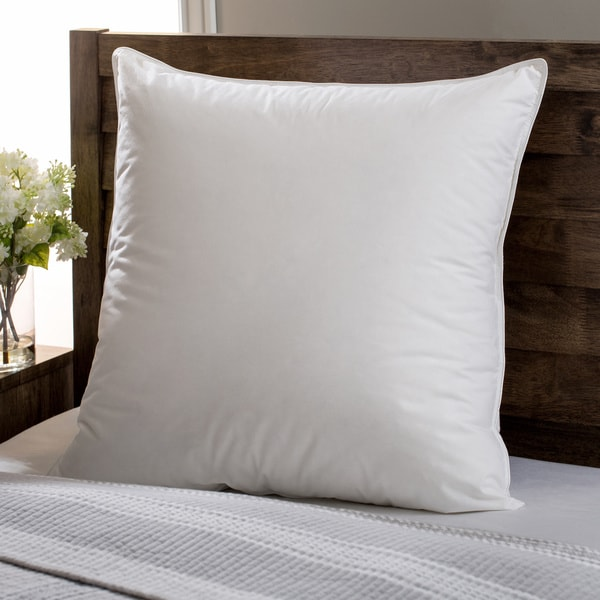 European Heritage Down Opulence Medium Firm White Goose Down European Square Pillow
