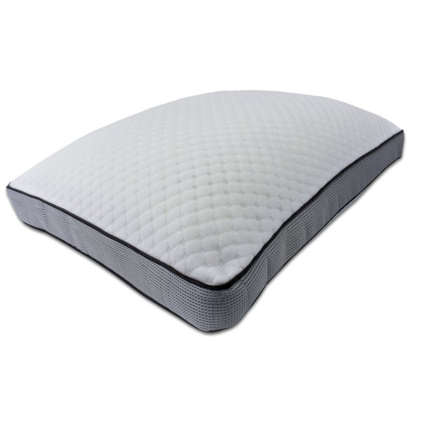 Sharper Image Gel Cluster Comfort Memory Foam Pillow
