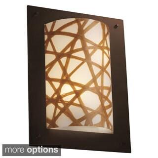 Justice Design 3Form Framed 2-light Rectangle Wall Sconce