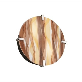 Justice Design 3Form Clips 2-light Round Wall Sconce