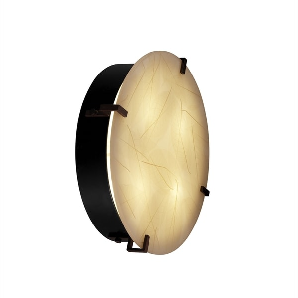 Justice Design 3Form Clips 4-light Round Wall Sconce
